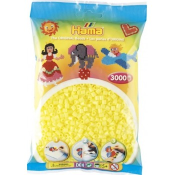 Koraliki Hama MIDI 3000 Koralików 201-43 Kolor Żółty Pastelowy