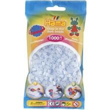 Koraliki Hama MIDI 1000 Koralików 207-57 Świecące w Ciemności Kolor Niebieski