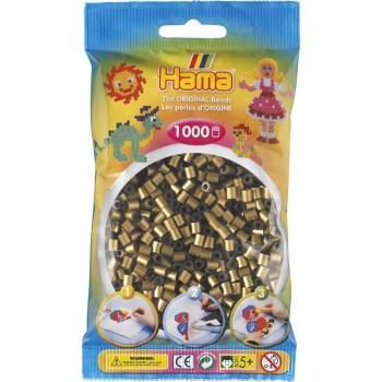 Koraliki Hama MIDI 1000 Koralików 207-63 Kolor Ciemny Złoty