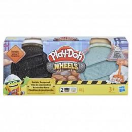 Ciastolina Play-Doh - Wheels - Zestaw uzupełniający - 2 tuby asfalt i cement E4525 E4508