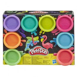 Ciastolina Play-Doh – Neonowy zestaw - 8 tubek – E5063