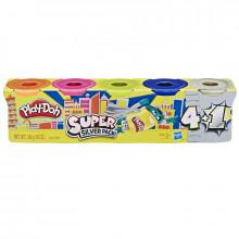 Ciastolina Play-Doh - Tubki 4+1 - Srebrny - E8143