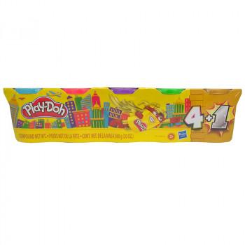 Ciastolina Play-Doh - Tubki 4+1 - Złoty - E8144