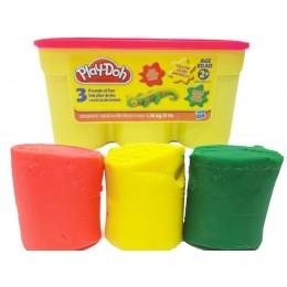 Ciastolina Play-Doh - Zestaw trzech tubek 1,36kg - A0950