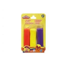 Ciastolina Play-Doh - 3pak 85g - czerwona, fioletowa, żółta - A3358