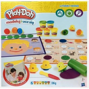 Ciastolina Play-Doh - Modeluj i ucz się - Literki i mowa B3407