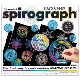 Hasbro – Spirograf – Zestaw do wydrapywania z brokatem – CLG03000