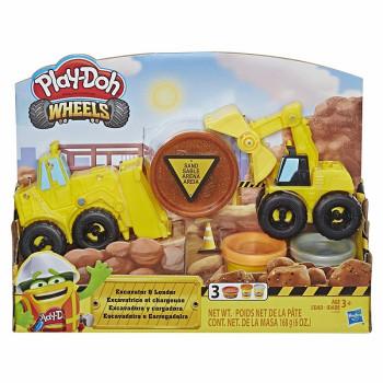 Ciastolina Play-Doh - Wheels - Koparka i spycharka - Plac budowy E4294