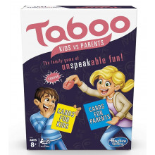 Hasbro – Gra słowna Taboo – Rodzice vs Dzieci – wersja angielska – E4941