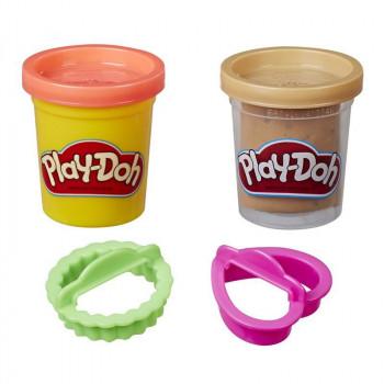 Ciastolina Play-Doh Kuchnia - Dwie tubki z foremkami - E5100