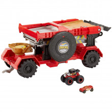 Hot Wheels - Monster Trucks - Transporter z rampą 2w1 - GFR15