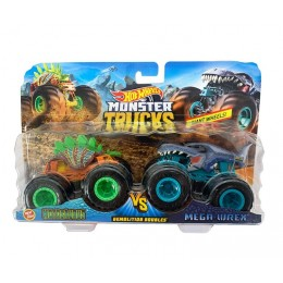 Hot Wheels – Monster Truck – Dwupak pojazdów Motosaurus i Mega Wrex – FYJ64 GLC86