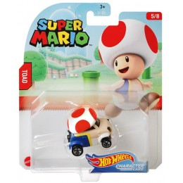 Hot Wheels – Super Mario – Pojazd Toad – GJJ23 GPC12