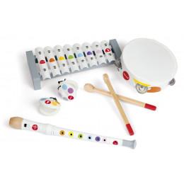 Janod - Zestaw drewnianych instrumentów muzycznych Confetti - J07600