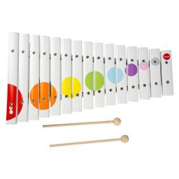 Janod - Drewniane cymbałki 15-tonowe Confetti - J07605