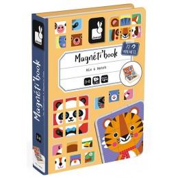 Janod - Magnetyczna układanka - Zwierzątka - Magneti Book J02587