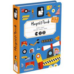 Janod - Magnetyczna układanka - Pojazdy - Magneti Book J02715