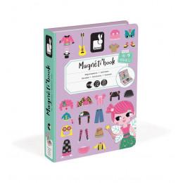 Janod - Magnetyczna układanka - Kostiumy dziewczynki - Magneti Book J02718