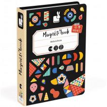 Janod - Magnetyczna układanka - Kształty - Magneti Book J02720