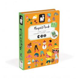 Janod - Magnetyczna układanka - 4 pory roku - Magneti Book J02721