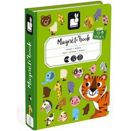 Janod - Magnetyczna układanka - Zwierzęta - Magneti Book J02723
