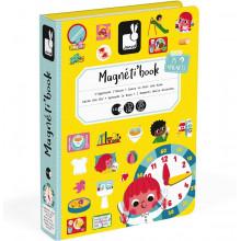 Janod - Magnetyczna układanka - Nauka zegara - Magneti Book J02724