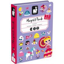 Janod - Magnetyczna układanka - Księżniczki - Magneti Book J02725