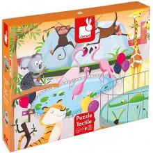 Janod - Puzzle Gigant 20 el. - Wycieczka do zoo - J02774