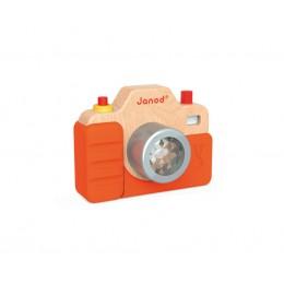 Janod - Drewniany aparat fotograficzny - światło i dźwięk - J05335