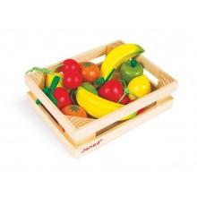 Janod - Drewniane owoce w skrzynce - J05610