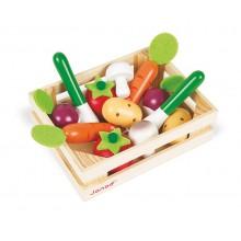 Janod - Drewniane warzywa w skrzynce - J05611