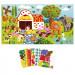 Janod - Plakat z piankowymi naklejkami - Zwierzęta na farmie J07789