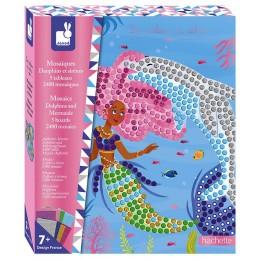Janod – Zestaw kreatywny z mozaikami – Delfiny i syrenki J07961