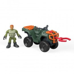 Jurassic World - Quad ATV i figurka technika - Imaginext FMX94