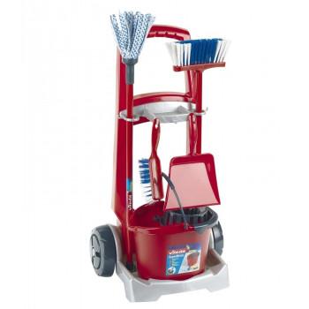 Klein – Zestaw do sprzątania z akcesoriami na wózku Vileda Junior – 6741