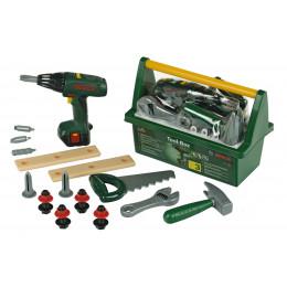 Klein - Skrzynka z narzędziami Bosch - Wkrętarka na baterie 8429