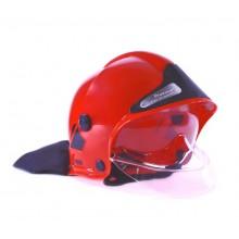 Klein - Kask strażacki z szybką - czerwony - 8901