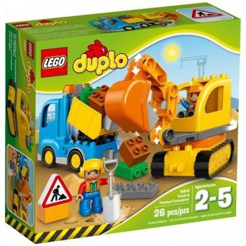 Klocki LEGO DUPLO 10812 Ciężarówka i koparka gąsienicowa