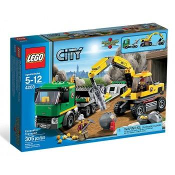 Lego City 4203 Koparka z Transporterem