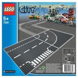 Lego City 7281 Płytka z Drogą i Zakrętem