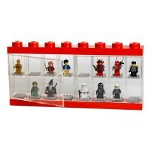 LEGO® Pojemnik Sorter na 16 Figurek CZERWONY