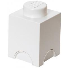 LEGO Pojemnik 1 na zabawki 12,5 x 12,5 cm Biały
