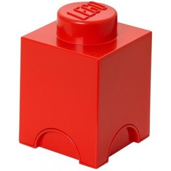 LEGO Pojemnik 1 na zabawki 12,5 x 12,5 cm Czerwony