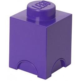 LEGO Pojemnik 1 na zabawki 12,5 x 12,5 cm Fioletowy
