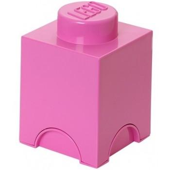 LEGO Pojemnik 1 na zabawki 12,5 x 12,5 cm Różowy