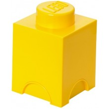 LEGO Pojemnik 1 na zabawki 12,5 x 12,5 cm Żółty