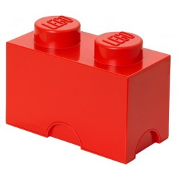 LEGO Pojemnik 2 na zabawki 12,5 x 25 cm Czerwony
