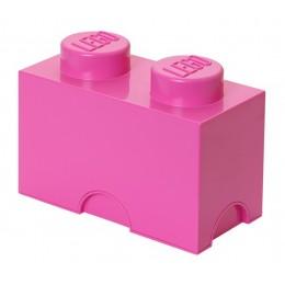LEGO Pojemnik 2 na zabawki 12,5 x 25 cm Różowy