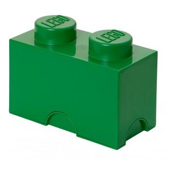 LEGO Pojemnik 2 na zabawki 12,5 x 25 cm Zielony