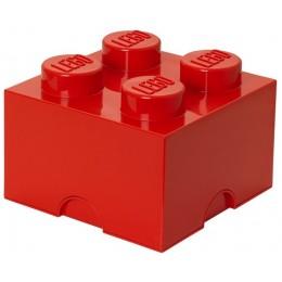 LEGO Pojemnik 4 na zabawki 25 cm Czerwony